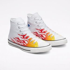 Converse High Top flames